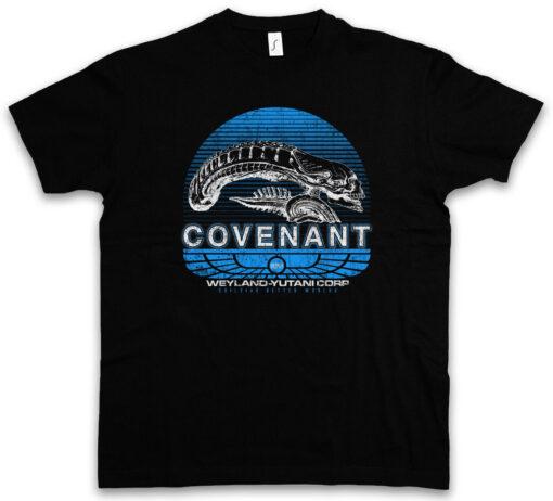 Covenant Prometheus Alien Nostromo Uscss Yutani Corp Logo Spacecraft T Shirt