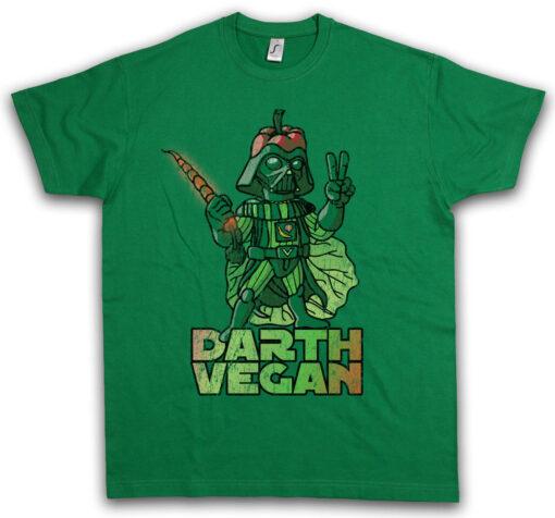 D Vegan Darth Veganer Vegetarian Salad Salat Fun Food T Shirt