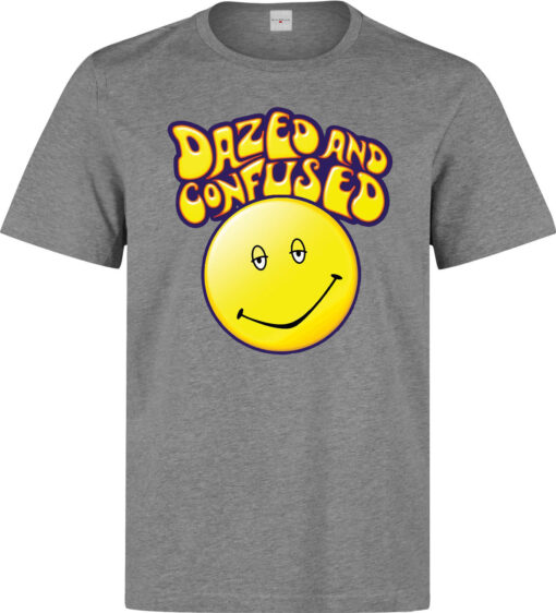 Dazed And Confused Smile Logo Men (Women Available) Gray T Shirt