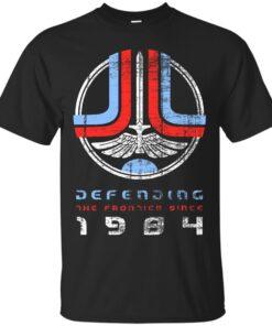 Defending Frontier worn look Cotton T-Shirt