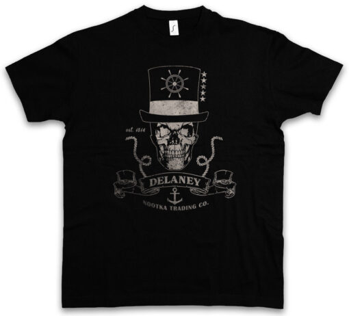Delaney Nootka Trading Co. James Taboo Islands Company Logo Symbol Signal T Shirt