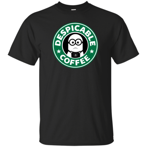 Despicable Coffee geek Cotton T-Shirt