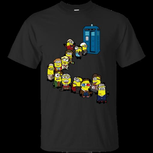 Doctor Minion Line Up cute Cotton T-Shirt
