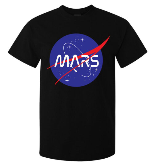Dope Black Top Quality Nasa'S Mars Styled Men Logo (Available For Women) T Shirt