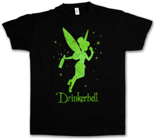 Drinkerbell Fun Tee Wasted Intoxicated Drunk Alcohol Hangover Drunk Party T Shirt