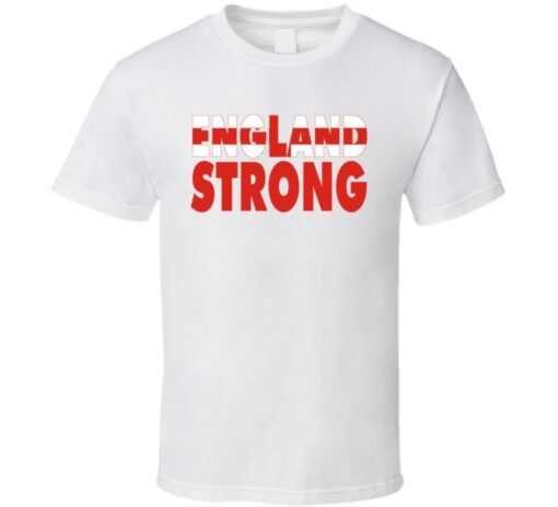 England Team Strong Fan Country T Shirt