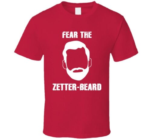 Fear The Beard Zetter Henrik Zetterberg Hockey T Shirt