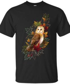 Feathers and Leaves Cotton T-Shirt