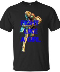 Fight Like A Girl Samus Aran Cotton T-Shirt