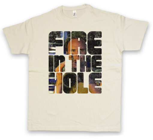 Fire In The Hole Boyd Crowder - Raylan Givens Series Justified Marshall T Shirt
