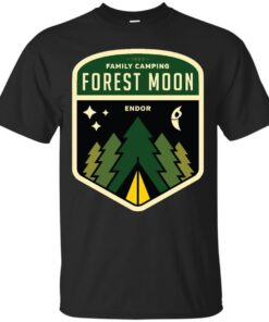 Forest Moon Camping Cotton T-Shirt