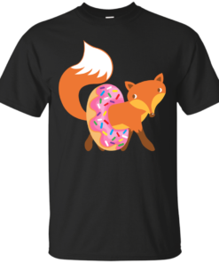 Fox and doughnut donut Cotton T-Shirt