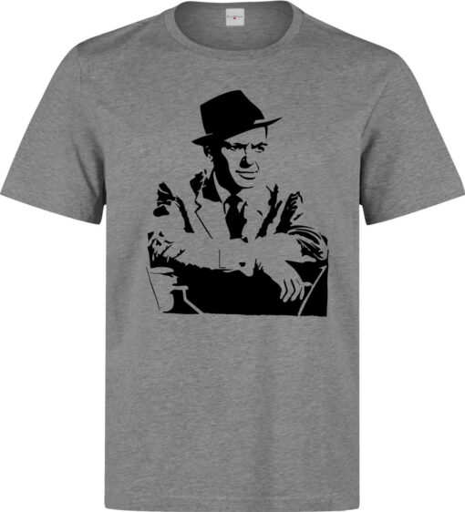 Frank Sinatra Singer Famous Men Black Gray Illustrations T Shirt