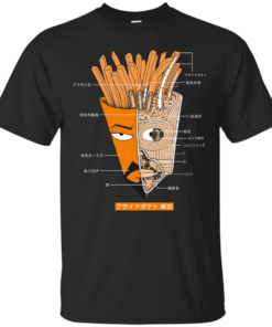 French Fries Anatomy Version 2 aqua teen hunger force Cotton T-Shirt