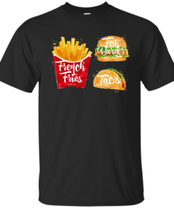 French Fries Menu painting Cotton T-Shirt