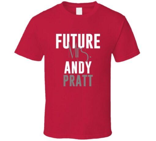 Future Mrs. Andy Pratt 2002 Atlanta Baseball T Shirt
