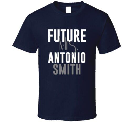 Future Mrs. Antonio Smith Denver Football Jersey T Shirt