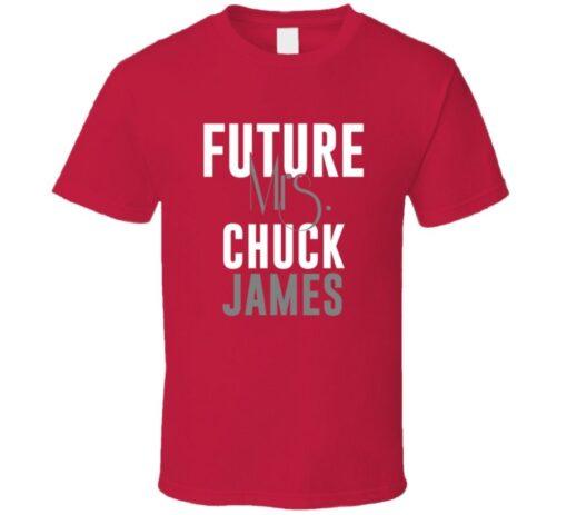 Future Mrs. Chuck James 2008 Atlanta Baseball T Shirt