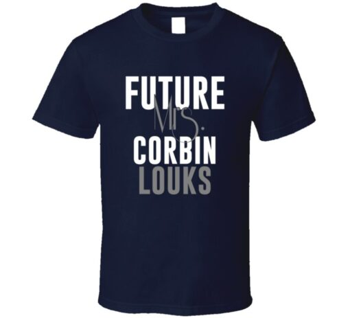 Future Mrs. Corbin Louks Denver Football Jersey T Shirt