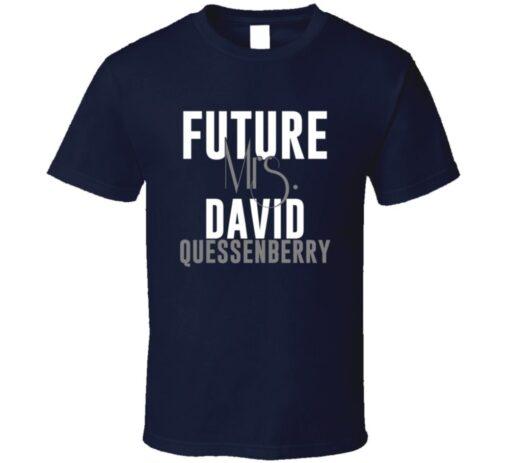 Future Mrs. David Quessenberry Houston Football Jersey T Shirt