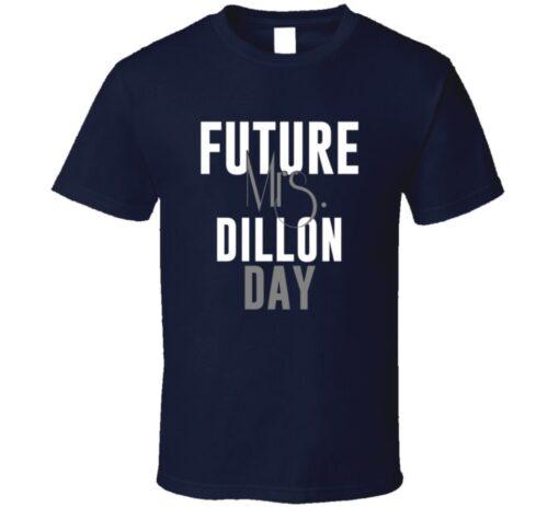 Future Mrs. Dillon Day Football Jersey Denver T Shirt