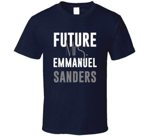 Future Mrs. Emmanuel Sanders Football Jersey Denver T Shirt