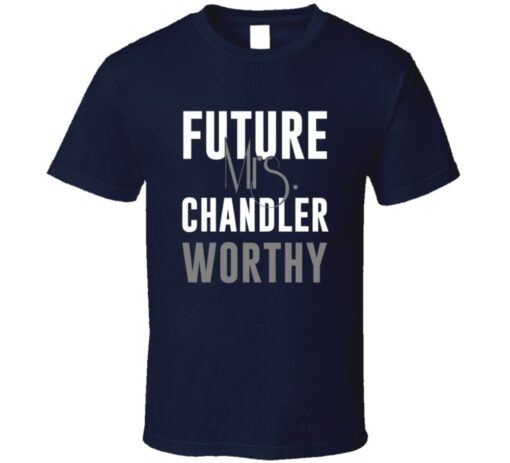 Future Mrs. Houston Chandler Worthy Football Jersey T Shirt