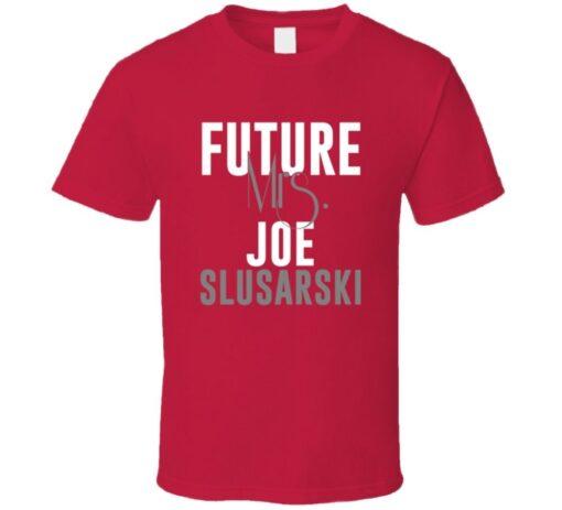 Future Mrs. Joe Slusarski 2001 Atlanta Baseball T Shirt