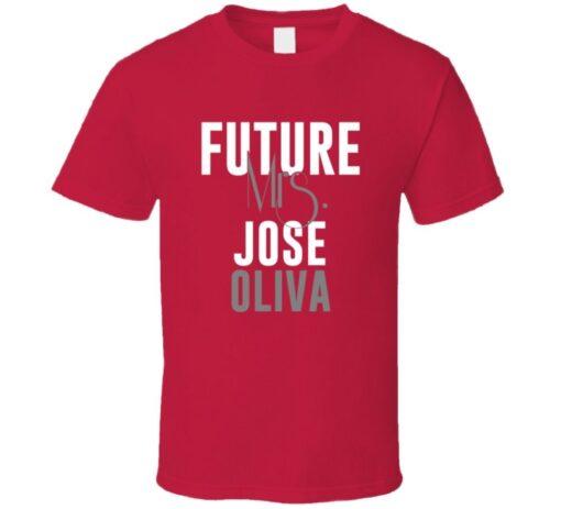 Future Mrs. José Oliva 1995 Atlanta Baseball T Shirt