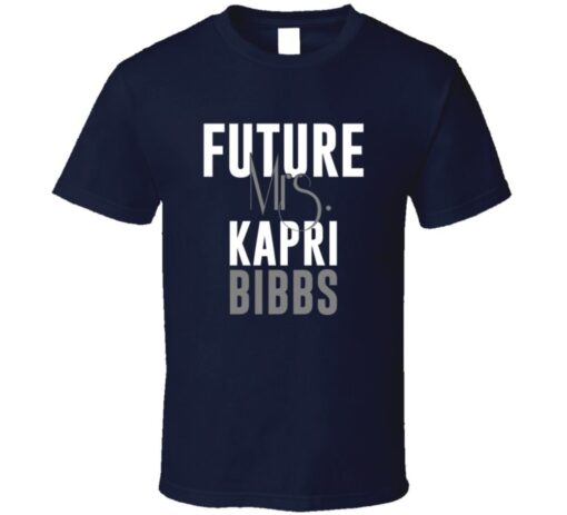 Future Mrs. Kapri Bibbs Denver Football Jersey T Shirt
