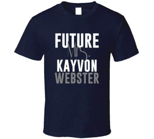Future Mrs. Kayvon Webster Denver Football Jersey T Shirt