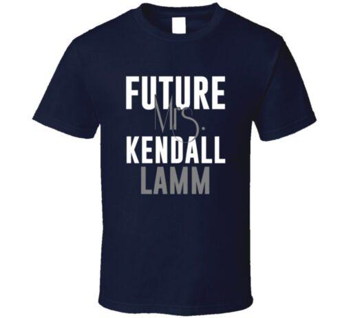 Future Mrs. Kendall Lamm Houston Football Jersey T Shirt