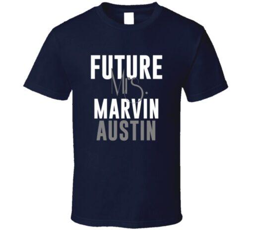 Future Mrs. Marvin Austin Football Jersey Denver T Shirt
