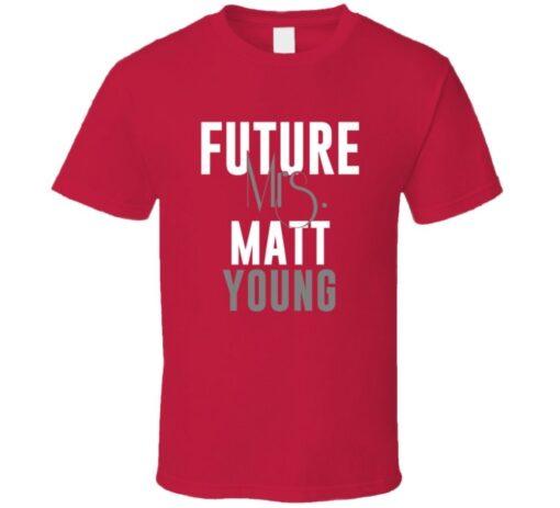 Future Mrs. Matt Young 2011 Atlanta Baseball T Shirt