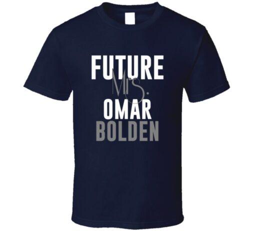 Future Mrs. Omar Bolden Denver Football Jersey T Shirt