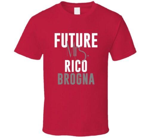 Future Mrs. Rico Brogna 2001 Atlanta Baseball T Shirt