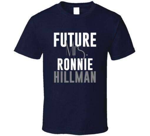 Future Mrs. Ronnie Hillman Denver Football Jersey T Shirt