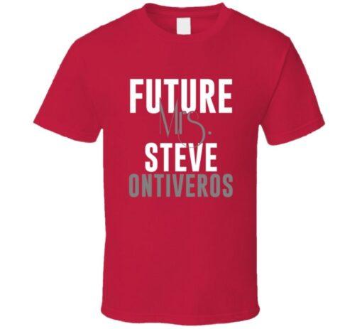 Future Mrs. Steve Ontiveros 2000 Boston Baseball T Shirt