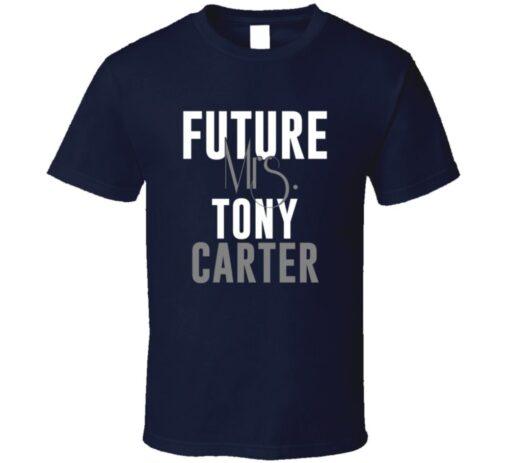 Future Mrs. Tony Carter Denver Football Jersey T Shirt