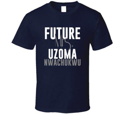 Future Mrs. Uzoma Nwachukwu Houston Football Jersey T Shirt