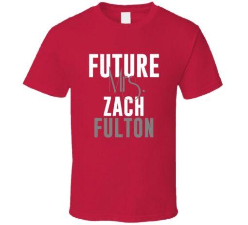 Future Mrs. Zach Fulton Kansas City Football T Shirt