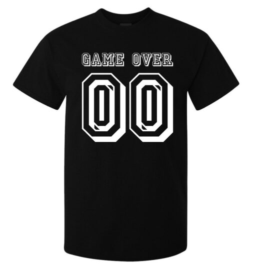 Game Over (Available For Women) Black 00 The Number Of Quality Men Lema T Shirt