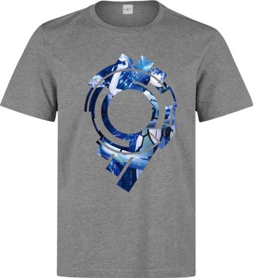 Ghost In The Shell Logo Artwork Men Anime (Available For Women) Gray T Shirt