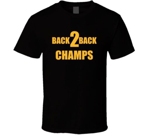 Golden State Back 2 Back Champions T Shirt