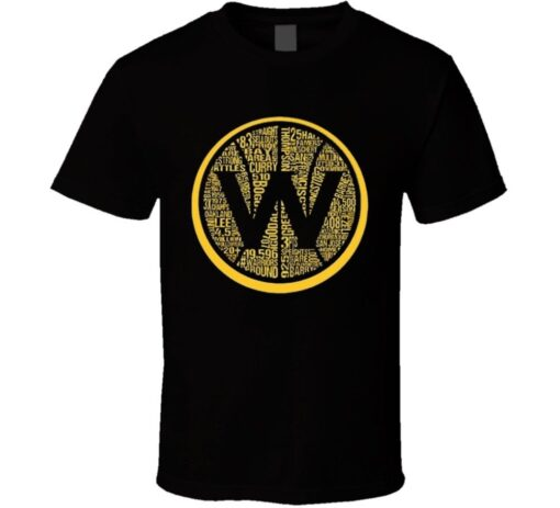 Golden State Basketball Champions Back To Back W Names Dynasty Cool T Shirt