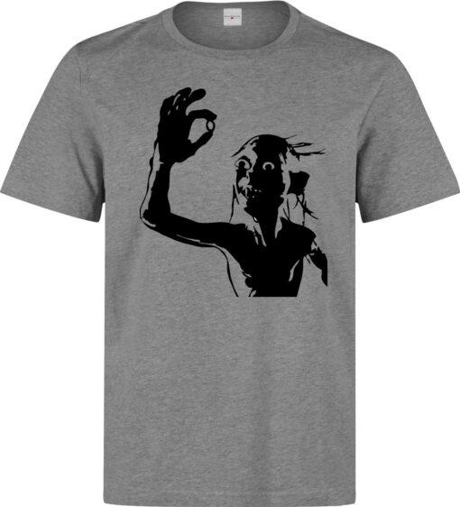 Golum And Mr. Ring Unique Minimalist Art Gray Top Rings Men T Shirt
