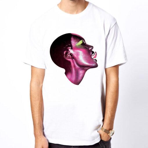 Grace Jones New 80 Model Ride Cele Photo Magazine Men White T Shirt