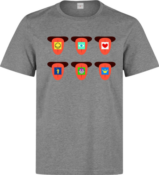 Gray Lsd Psychedelic Trippy Languages Acid Art Men T Shirt