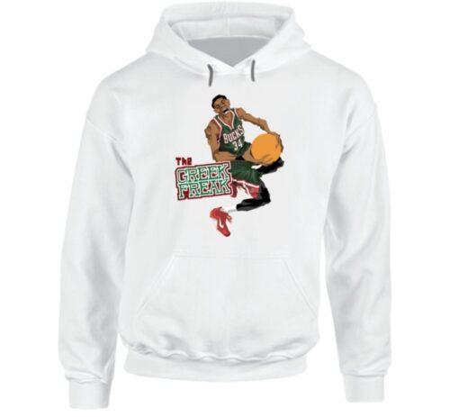 Greek Freak 34 Giannis Antetokounmpo Milwaukee Basketball Pro T T Shirt