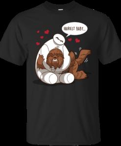 Hairiest Baby_Chewbacca Cotton T-Shirt